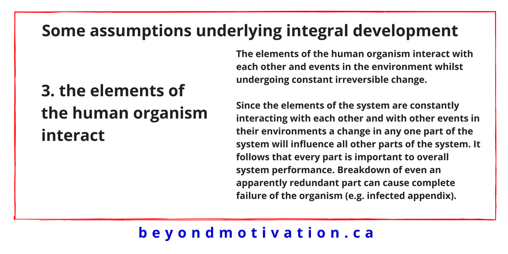 3. the elements of the human organism interact - James T. McCay - Beyond Motivation