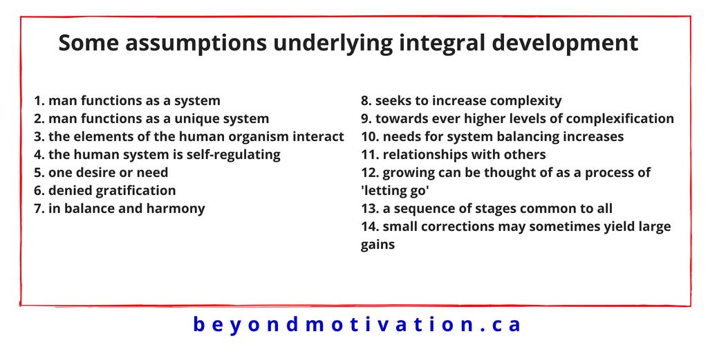 Part Four: Some assumptions underlying integral development - Beyond Motivation - James T. McCay